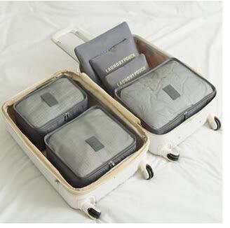 旅遊必備衣物壓縮收納袋六6件套DL14295『黑色妹妹』