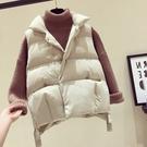 羽絨棉馬甲女短款韓版學生秋冬新款百搭背心寬松面包棉服
