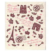 〔apmLife 生活雜貨〕巴黎鐵塔復古情懷吸水拭布