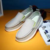 夏季老北京布鞋男正韓男士帆布鞋低筒休閒鞋透氣防臭一腳蹬懶人鞋【萬聖節8折】