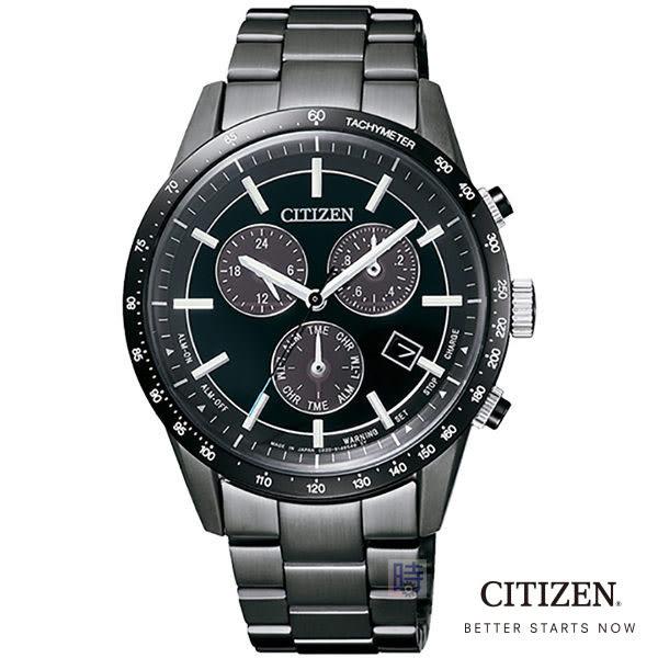 星辰/CITIZEN BL5495-56L 光動能 三眼 男錶/限量贈送原廠錶帶