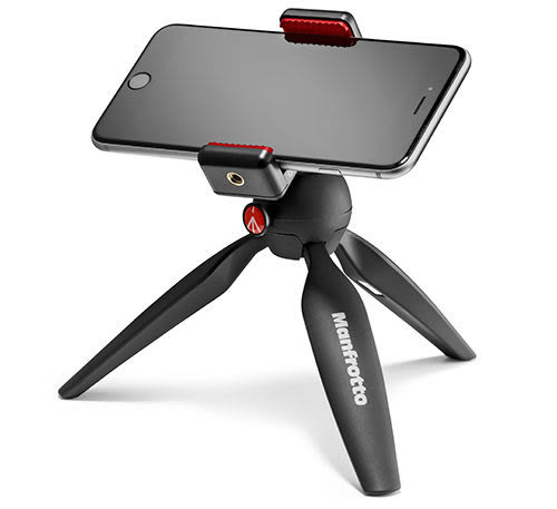 Manfrotto PIXI SMART 萬用手機夾+迷你腳架 桌上型三腳架 手機夾 手機架 MKPIXICLAMP-BK【公司貨】