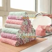 【5條】吸水抹布加厚纖維擦桌布廚房家用清潔洗碗毛巾洗碗布【樹可雜貨鋪】