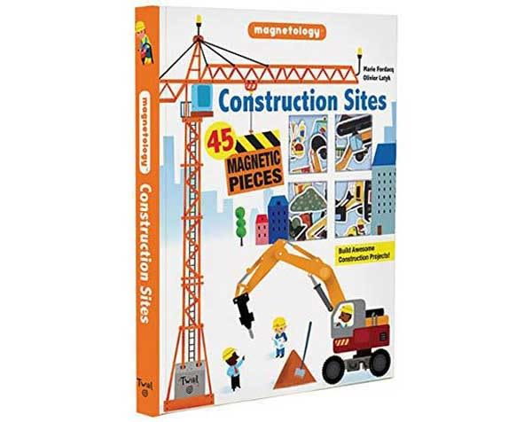 Construction Sites:Magnetology 建築工地 遊戲磁鐵書