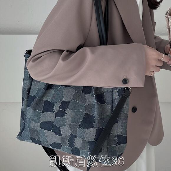 網紅大包包2021新款潮斜挎包女百搭小眾設計乞丐單肩大容量托特包 凱斯盾