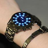 電子手錶智慧多功能黑科技學生社會人 LED無指針概念手錶男特種兵 卡布奇诺