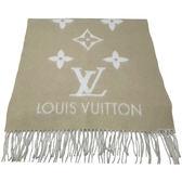 【Louis Vuitton 路易威登】M70462 REYKJAVI系列Monogram花紋喀什米爾羊毛圍巾(灰樹色)
