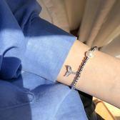 人魚尾系列 人魚姬手鏈ins森系少女鑲鉆手飾韓國簡約珍珠手環S145『新佰數位屋』