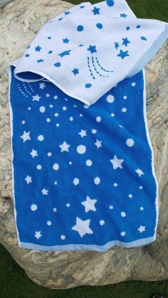 ((偉榮毛巾))100%純棉~星空雙色寬版運動毛巾,吸水耐用!