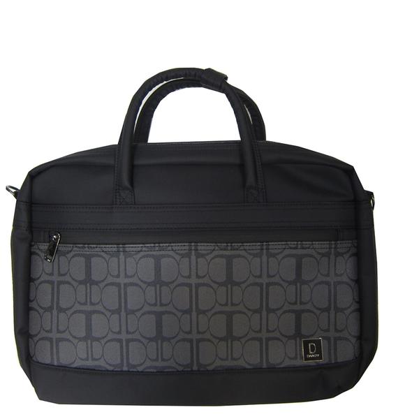 ~雪黛屋~DANDY 文件包中容量可A4資料夾主袋+外袋共三層防水尼龍底加大量布提肩斜側背SW9291