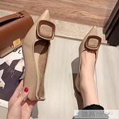 尖頭單鞋女2020夏季新款韓版百搭網紅仙女風淺口高跟鞋女細跟  夏季新品