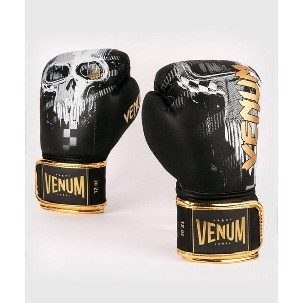 『VENUM旗艦館』10oz  VENUM 新款黑金骷髏頭 拳套~IMPACT 衝擊拳擊手套~高CP拳套 4035001