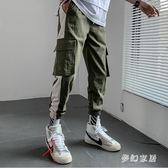 2019夏季新款韓版休閒短褲男潮流七分寬鬆束腳運動工裝褲 QW7900『夢幻家居』