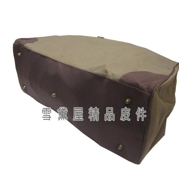 ~雪黛屋~troop 旅行袋中容量英國經典帆布100%全棉手工帆布包耐磨損加強防水功能提肩STRP0354