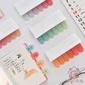 5個裝 漸變留言記事索引N次貼標記貼Z可愛便利貼紙【櫻田川島】