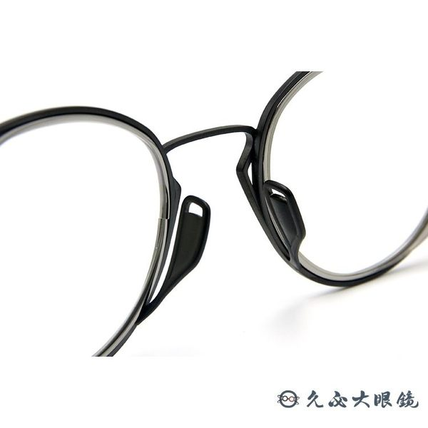 DITA 頂級眼鏡品牌 純鈦 復古圓框眼鏡 HALIOD 霧黑-銀 久必大眼鏡