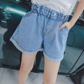 童裝女童牛仔短褲2018夏季新款中大童寬鬆闊腿褲子純色全棉中大童 快速出貨八八折柜惠