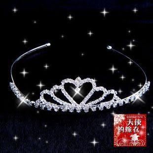 銀色韓式皇冠水鑽