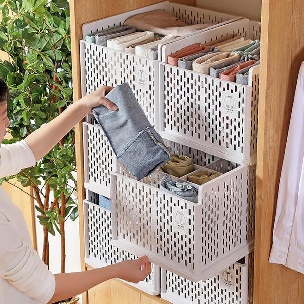 1層收納箱抽屜式家用衣服收納整理箱衣物儲物盒樂淘淘
