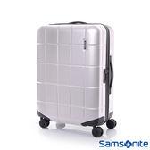 Samsonite新秀麗 25吋Tileum霧面防刮飛機輪硬殼TSA行李箱(霧銀)