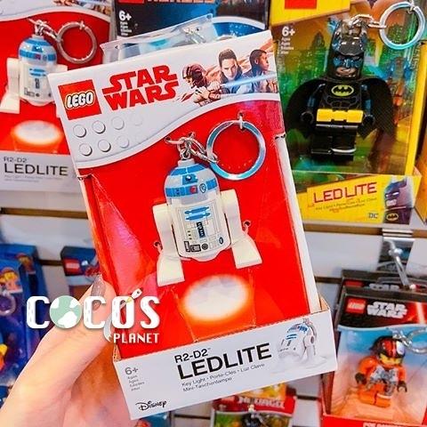 樂高鑰匙圈 LEGO 星際大戰 STAR WARS R2D2 R2-D2 人偶造型LED 鑰匙圈鎖圈 盒裝 COCOS LG320
