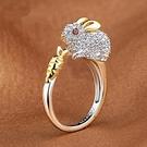 戒指 12生肖戒指女食指開口 鍍鉑金動物雞指環 日韓版潮飾品百搭小動物