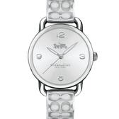 COACH 閃耀佳人銀鍊帶腕錶/14502891