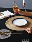 餐桌墊4片裝日式圓形餐墊西餐墊創意餐桌墊家用北歐盤墊碗墊杯墊隔熱墊 流行花園