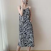 【Charm Beauty】豹紋性感 吊帶 連衣裙女 2021年 春夏 新款 可鹽 可甜 炸街 裙子 溫柔系 穿搭