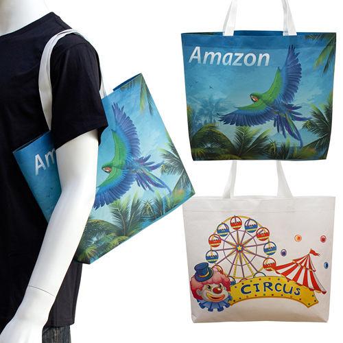 【客製化】 環保袋 全彩不織布袋 40x30x8c短提把 袋身有底  A90-100-093