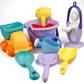 全館85折兒童節禮物軟膠沙灘玩具套裝兒童洗澡玩具小孩戲水挖沙子寶寶鏟子沙漏工具