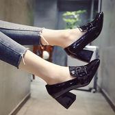 春季女鞋2018新款韓版百搭中跟高跟鞋