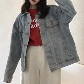 2018春季新款韓版復古原宿bf風學生寬鬆顯瘦百搭牛仔外套女上衣潮