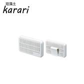 日本Karari硅藻土可掛式除溼+脫臭萬用盒白色