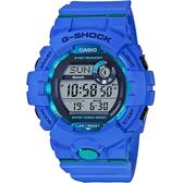 CASIO 卡西歐 G-SHOCK 藍芽運動手錶-藍 GBD-800-2 / GBD-800-2DR