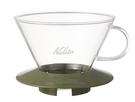 金時代書香咖啡 Kalita 185系列 蛋糕型玻璃濾杯 2-4人 迷彩綠 #05110