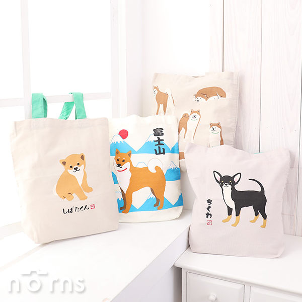 【日貨動物手提袋直式L號 狗狗好朋友】Norns 日本雜貨 A4包 帆布袋 環保袋 肩背包 帆布包