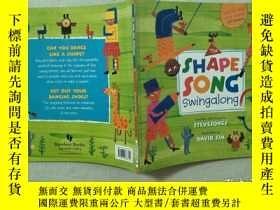 二手書博民逛書店英文原版兒童繪本罕見The Shape Song Swingalong 附CDY332659 Steve So