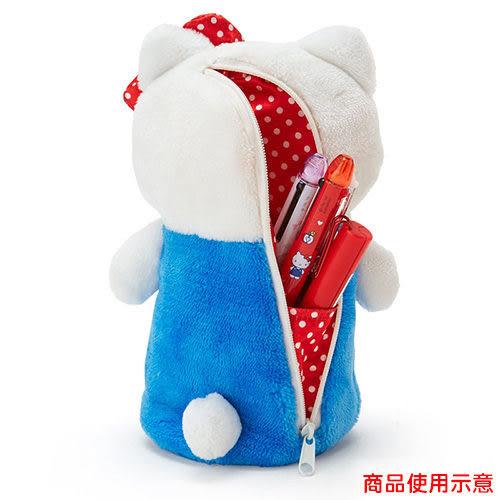 【震撼精品百貨】Hello Kitty 凱蒂貓~HELLO KITTY絨毛玩偶造型可坐式筆袋