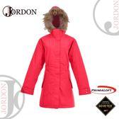 【JORDON 橋登 女 GORE-TEX+Primaloft二合一機能大衣《蜜紅》】1958/防水外套