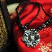 毛衣鍊 民族風苗銀-雛菊造型生日情人節禮物女項鍊73hf64【時尚巴黎】