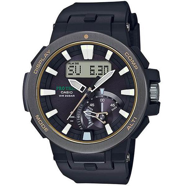 CASIO卡西歐PRO TREK戶外搭檔登山腕錶 PRW-7000-1B