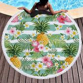 沙灘巾 水果 幾何 印花 流蘇 野餐巾 海灘巾 圓形沙灘巾 150*150【YC027】 ENTER  04/03