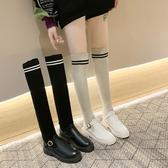 長靴 過膝秋冬新款加絨粗跟針織彈力襪子靴高筒網紅瘦瘦靴潮
