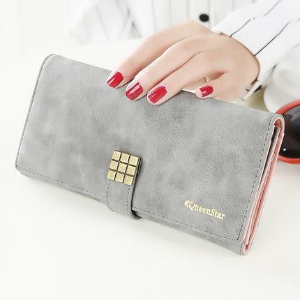皮夾-優質多卡位九方格質感長夾 手機錢包 KQ298-寶來小舖-現貨販售