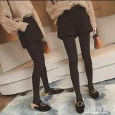 毛呢短褲子女高腰寬管褲韓版百搭加厚外穿打底短褲靴  『極有家』