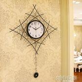 一紅時尚個性簡約藝術大掛錶創意時鐘現代鐘錶掛鐘客廳石英鐘靜音  城市玩家