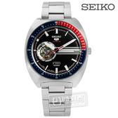 SEIKO 精工 / 4R38-01K0D.SSA329J1 / 五號盾牌零極限鏤空機械不鏽鋼手錶 黑色 44mm