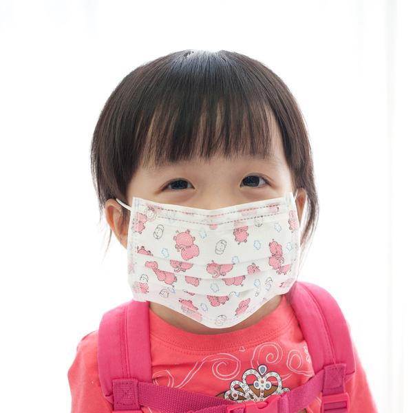 Qmishop 日韓卡通圖案造型兒童平面防塵/保護喉嚨口罩10入【QJ871】