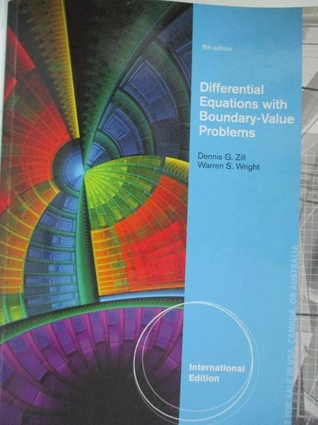 【書寶二手書T6/大學理工醫_EGX】Differential Equations with Boundary-Value Problems_Michael Cullen Dennis G. Zill